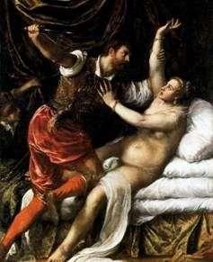 Tarquinius i Lucretia   Titian Vecellio