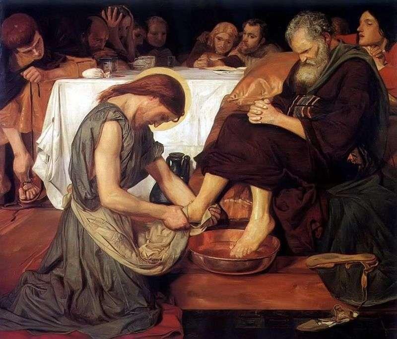 Jezus myje stopy Piotra   Ford Madoxon Brown