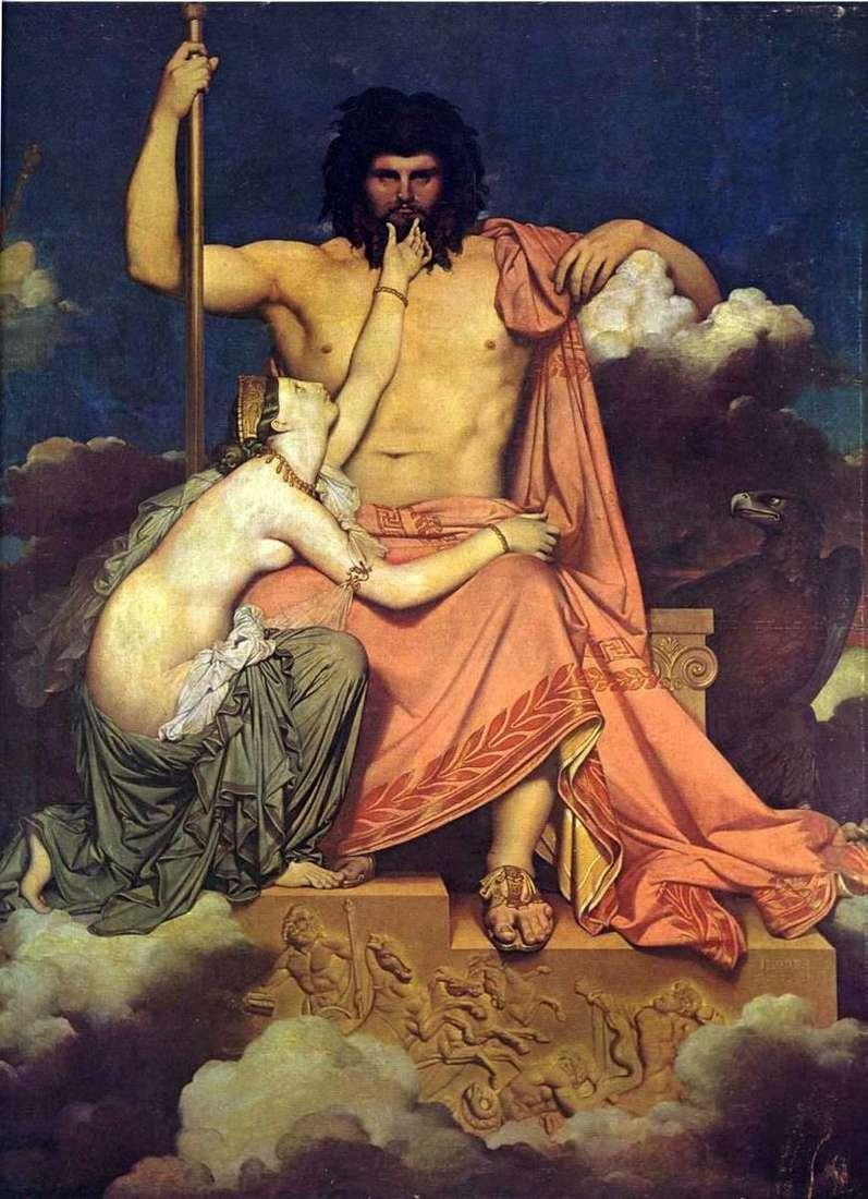 Jowisz i Thetis   Jean Auguste Dominique Ingres