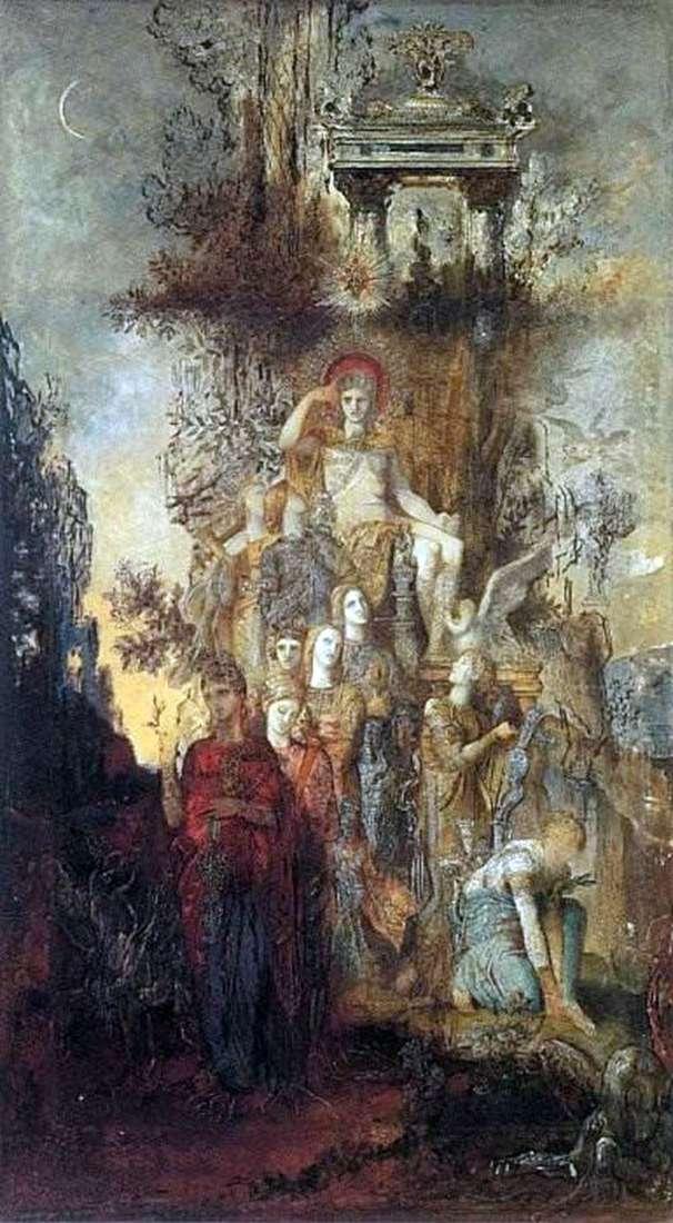 Muse, pozostawiając ojca Apolla   Gustawa Moreau