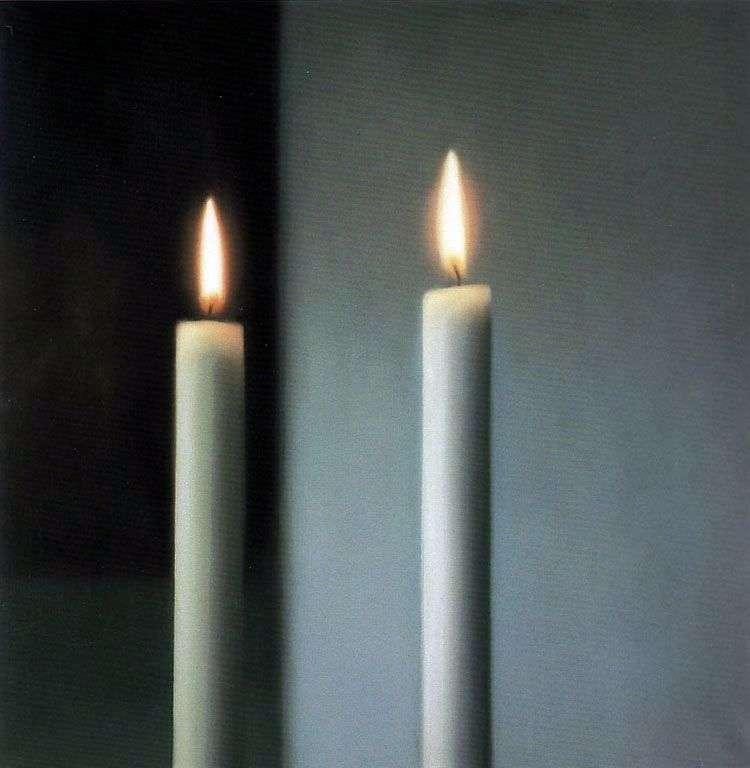 Dwie świece   Gerhard Richter