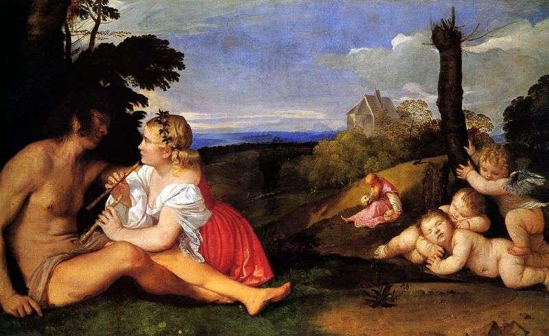Trzy wieki osoby (alegoria trzech wieków)   Titian Vecellio