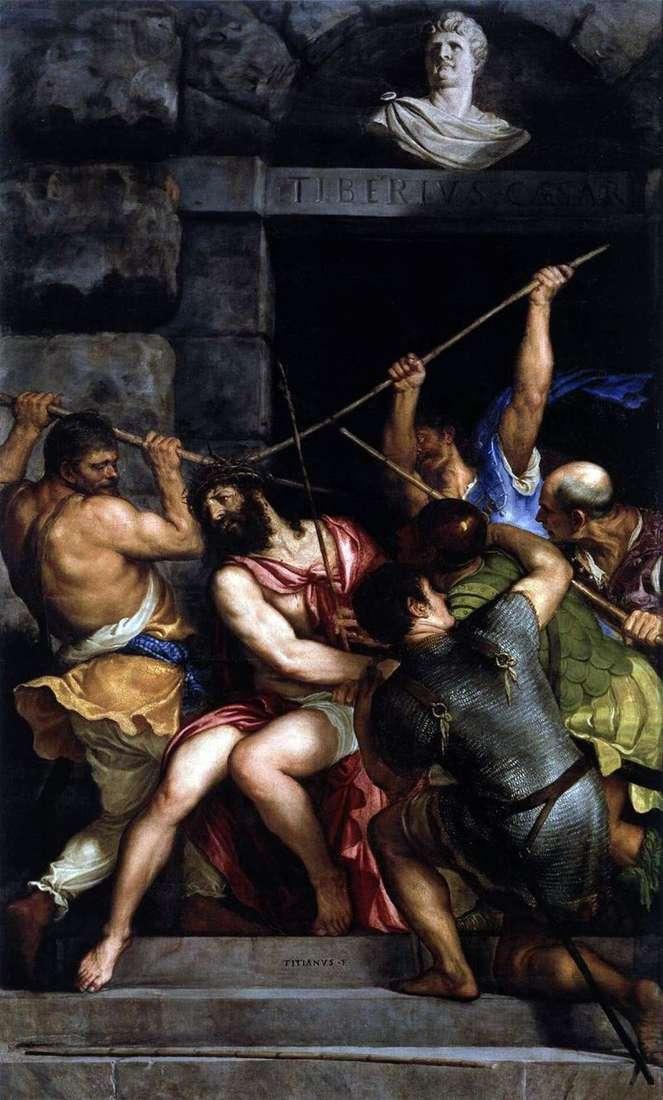 Ukoronowanie koroną cierniową   Titian Vechelio