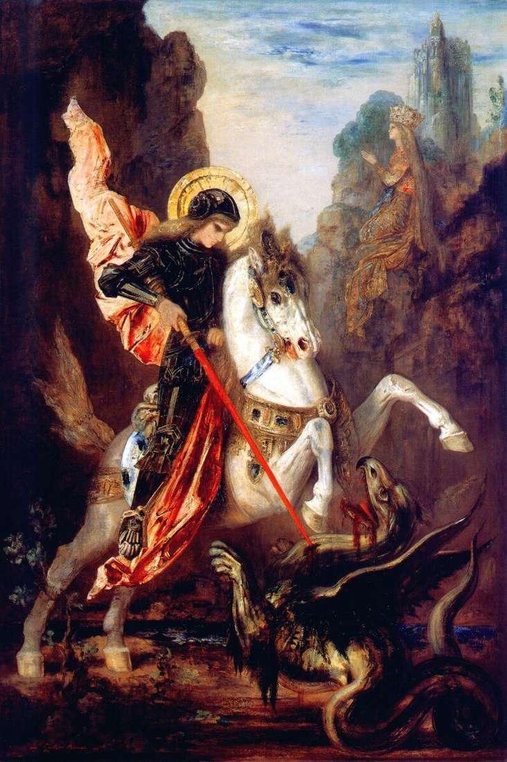 Święty Jerzy i smok   Gustave Moreau