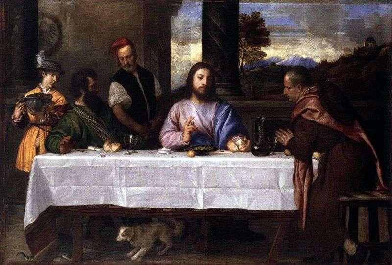 Kolacja w Emmaus   Titian Vecellio