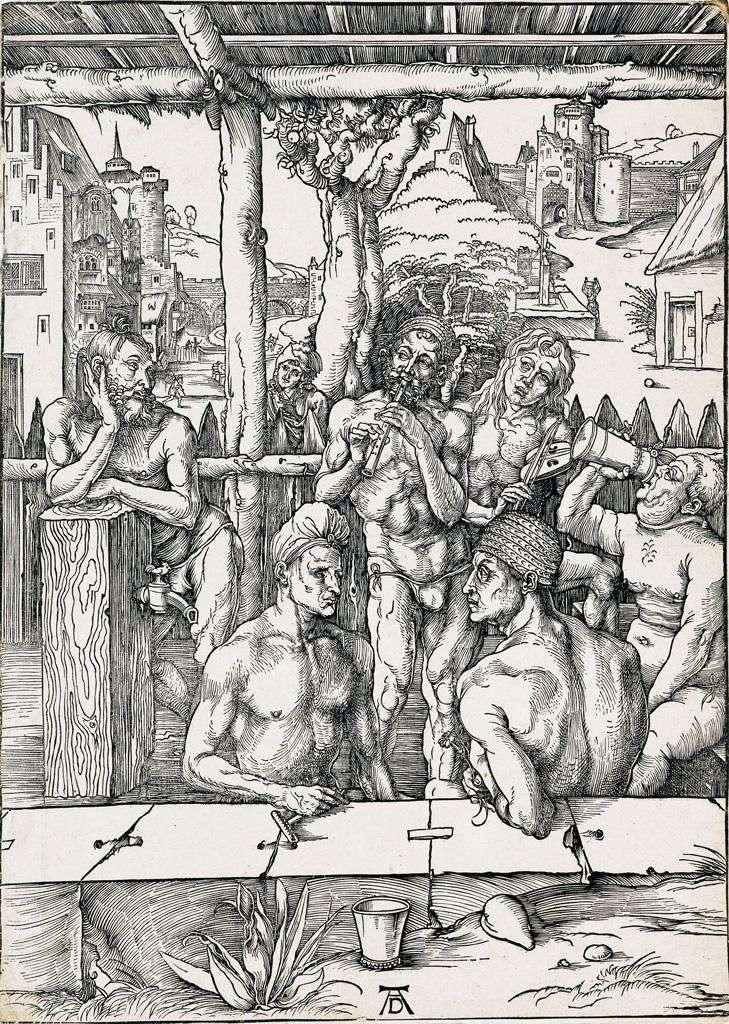 Kąpiel dla mężczyzn. Grawerowanie   Albrecht Durer