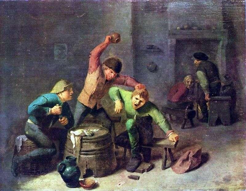 Kłótnia w grze karcianej   Adrian Brower