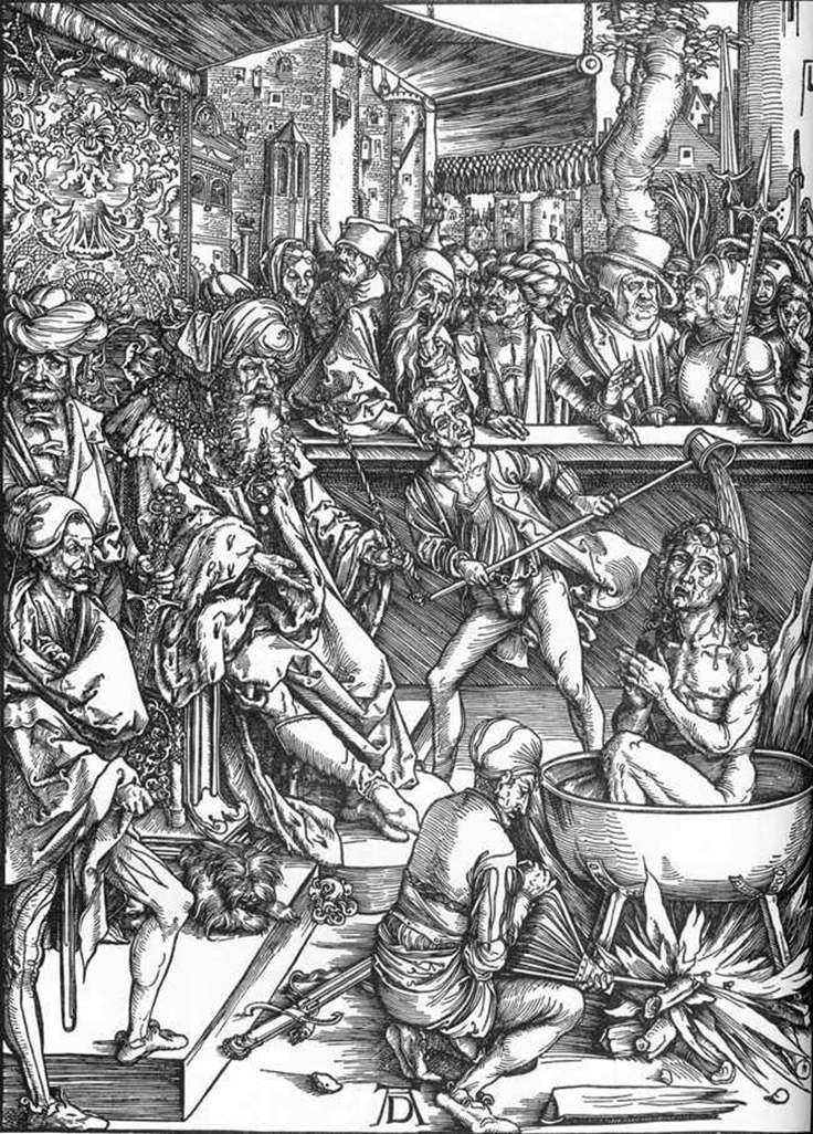 Męczeństwo Jana Teologa   Albrechta Dürera