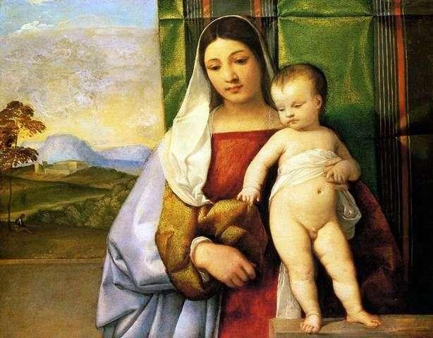 Cygańska Madonna   Titian Vecellio