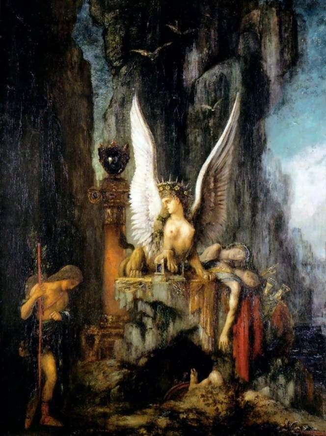 Edyp i Sfinks   Gustave Moreau