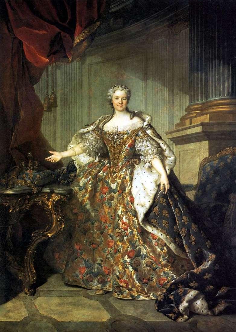 Maria Leshchinskaya, królowa Francji, żona Ludwika XV   Louis Tokke