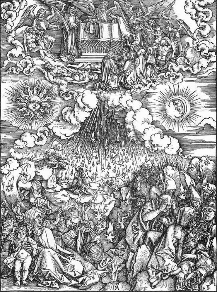 Otwarcie piątej i szóstej pieczęci   Albrecht Durer