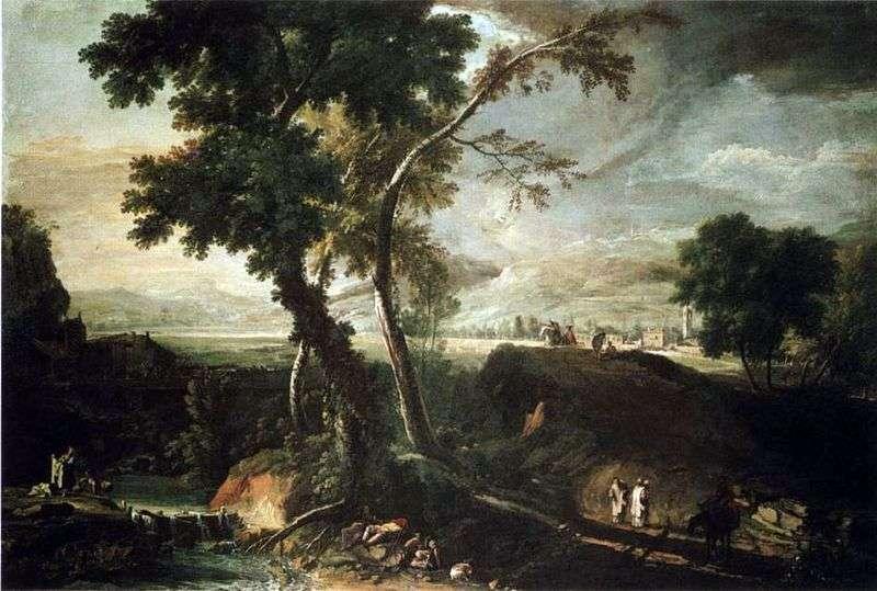 Krajobraz ze strumieniem   Marco Ricci