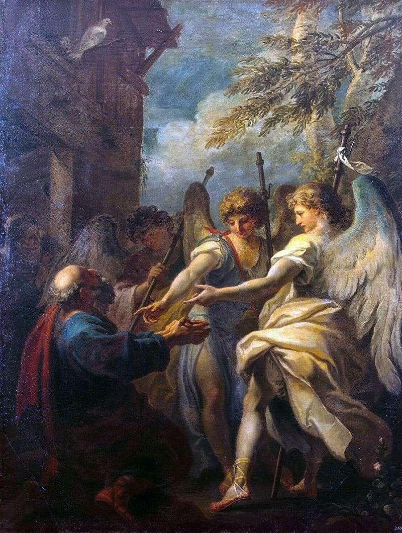 Abraham i trzej aniołowie   Sebastiano Ricci