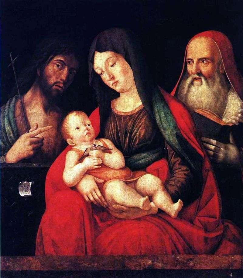 Maryja z dzieckiem, Jan Chrzciciel i św. Hieronim   Alvise Vivarini