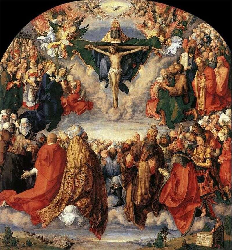 Adoracja Świętej Trójcy   Albrecht Durer