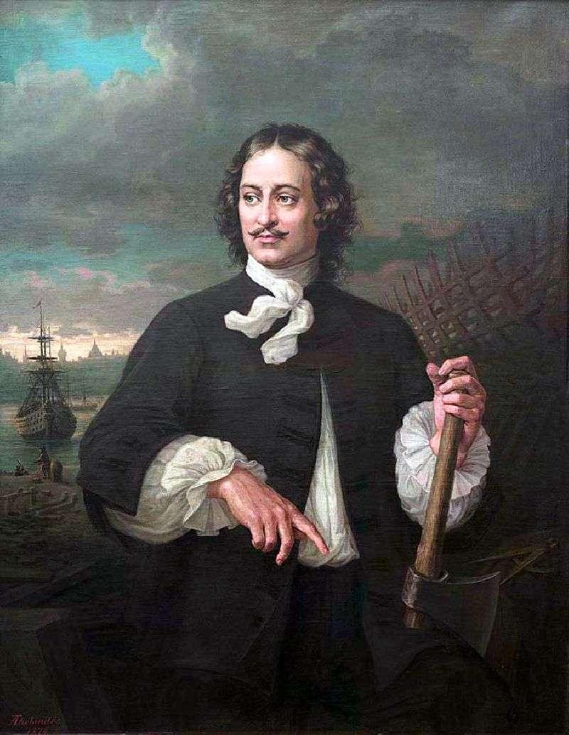 Portret Piotra I   Augustus Tolyander