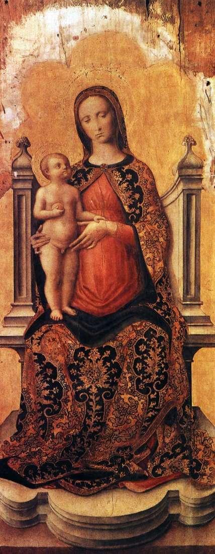 Maria z dzieckiem na tronie   Antonio Vivarini