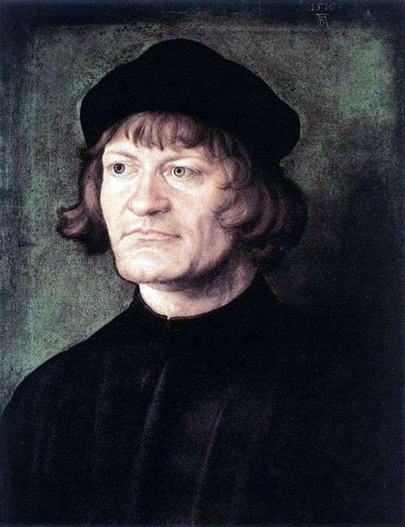 Portret Kleryk   Albrecht Durer