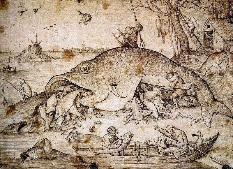 Duże ryby jedzą małe   Peter Bruegel