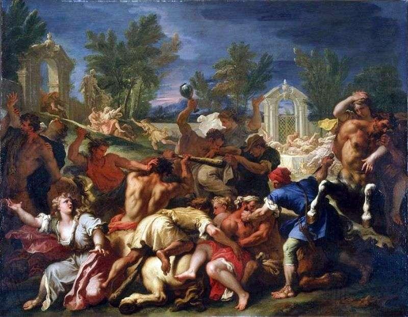 Bitwa o Lapith z Centaurami   Sebastiano Ricci