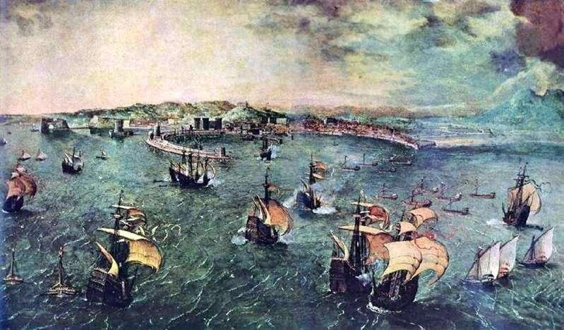 Bitwa morska w Zatoce Neapolitańskiej   Peter Bruegel