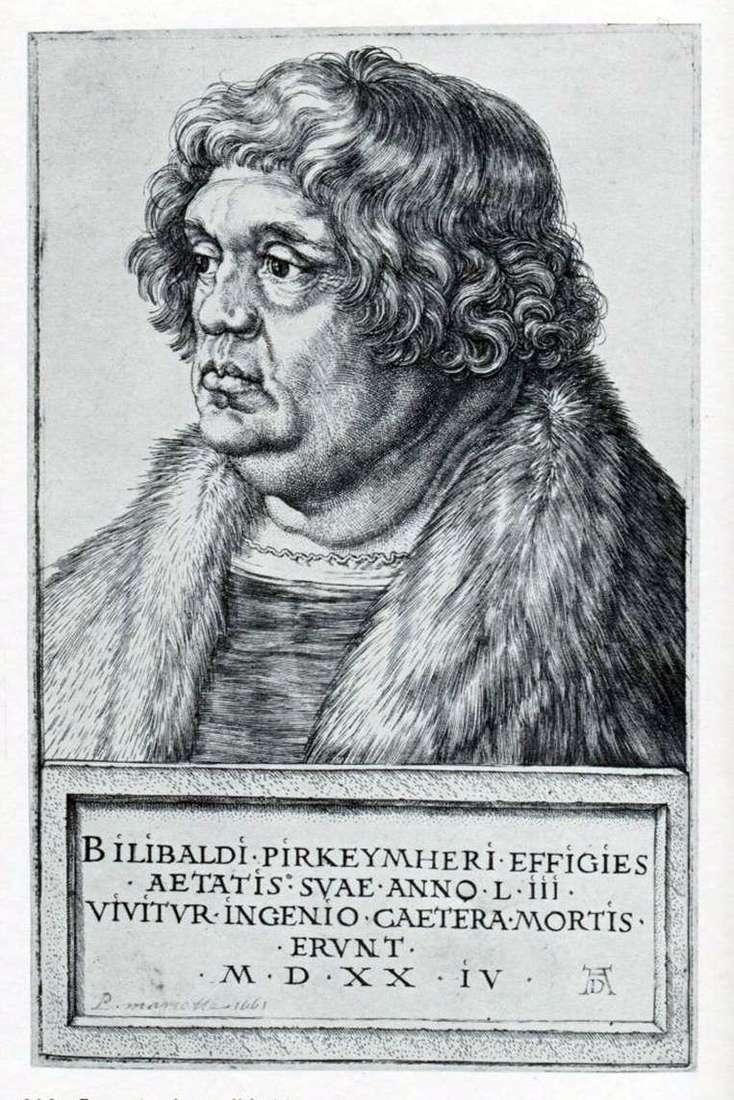 Portret Willibald Pirkheimer   Albrecht Dürer