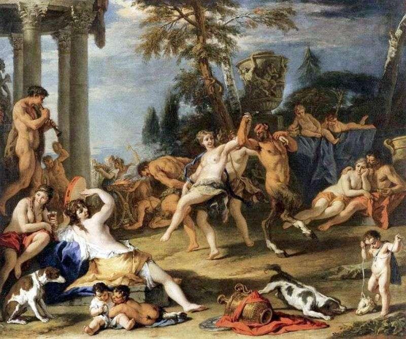 Bacchanalia w społeczeństwie Pan   Sebastiano Ricci