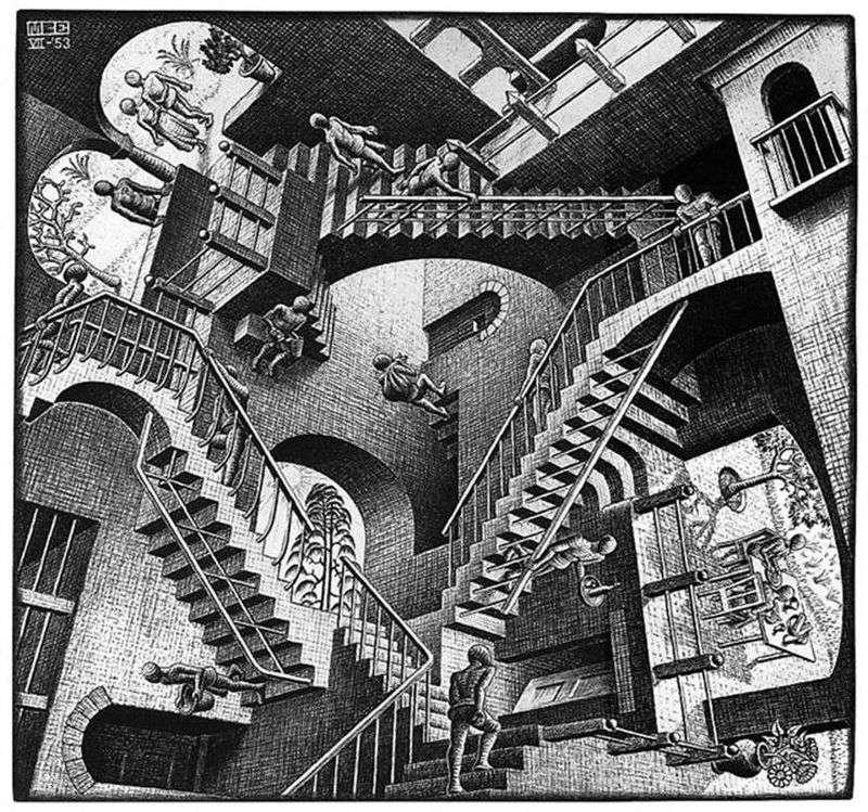 Względność   Maurits Escher