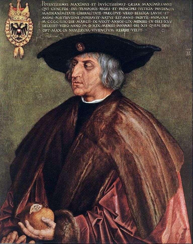 Portret cesarza Maksymiliana I   Albrechta Durera