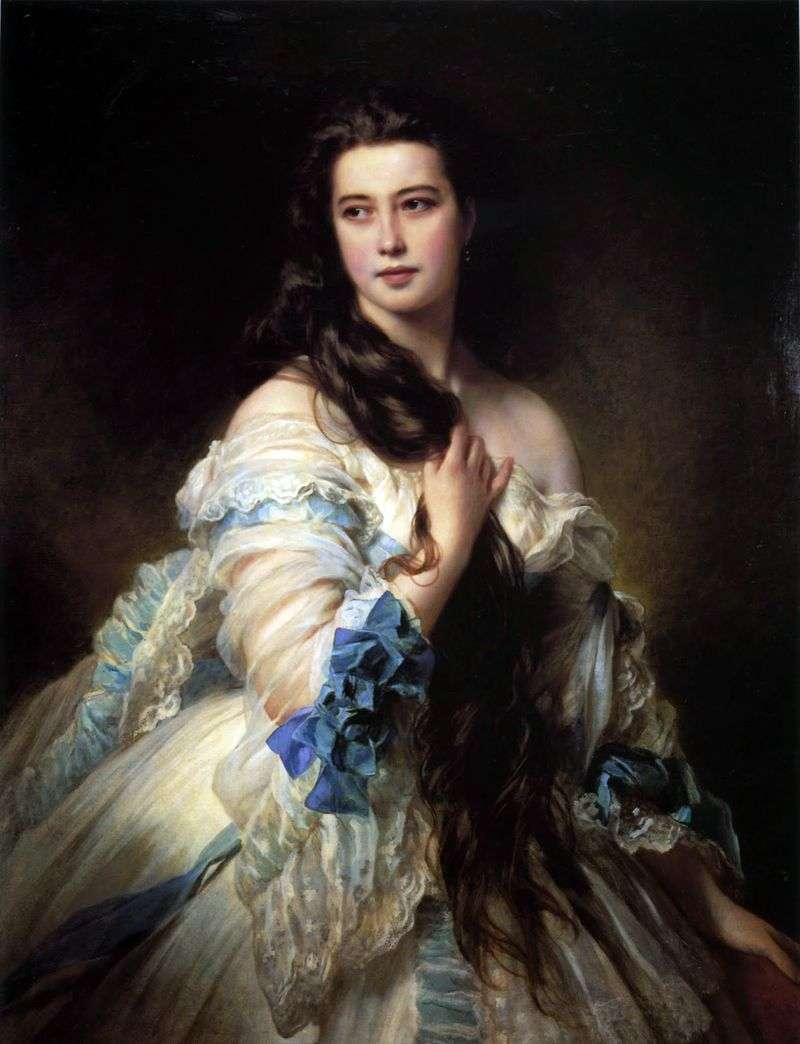 Portret V. D. Rimskaya Korsakova   Franz Xaver Winterhalter