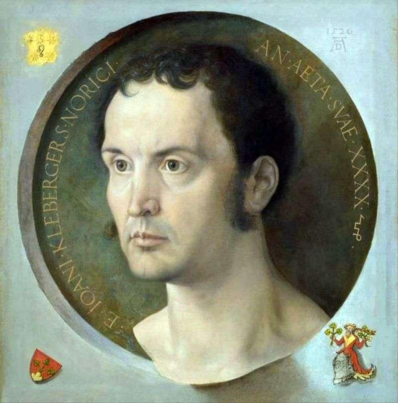 Portret Johna Kleberger   Albrecht Durer