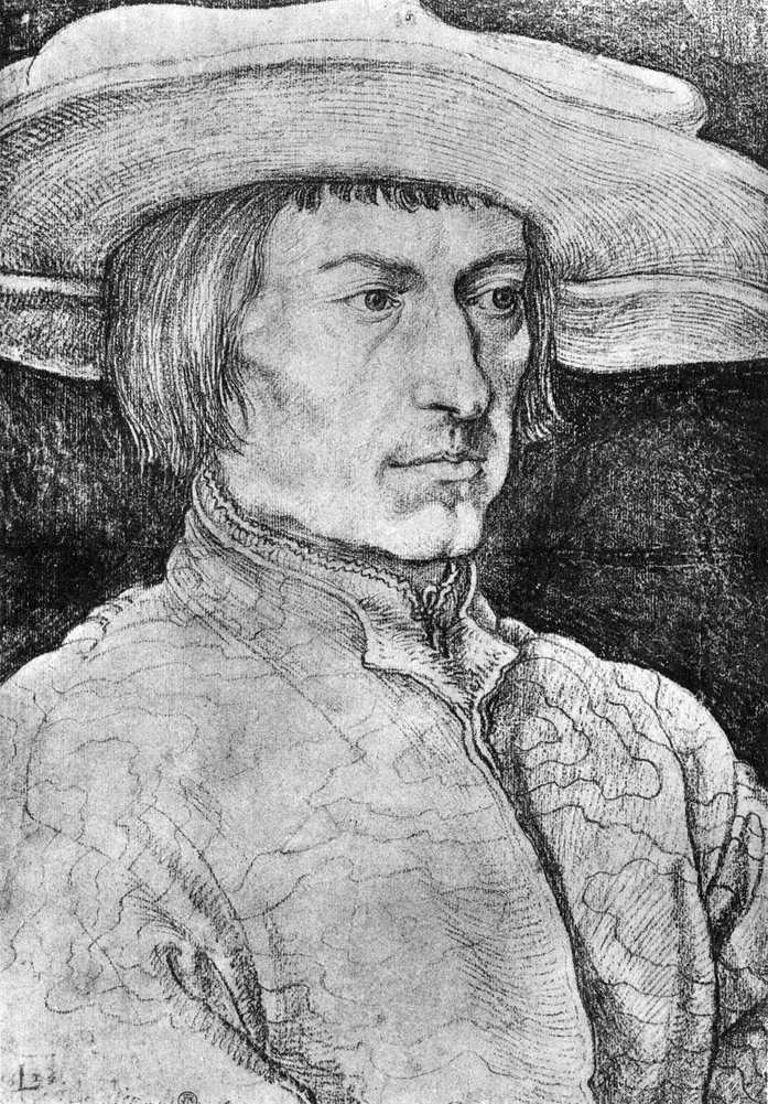 Portret Lucas van Leiden   Albrecht Durer