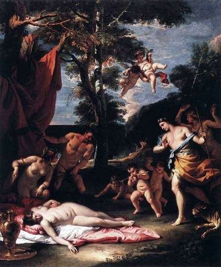 Spotkanie Bachusa i Ariadny   Sebastiano Ricci