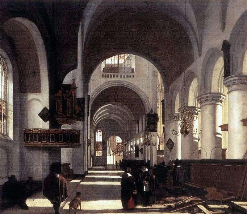 Wnętrze kościoła   Emanuel de Witte