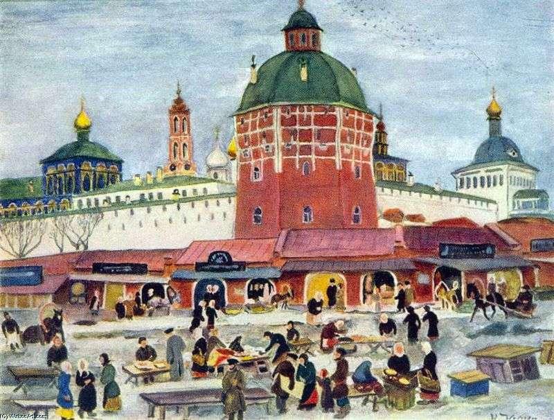 Bazar przy Trinity Sergius Lavra   Konstantin Yuon