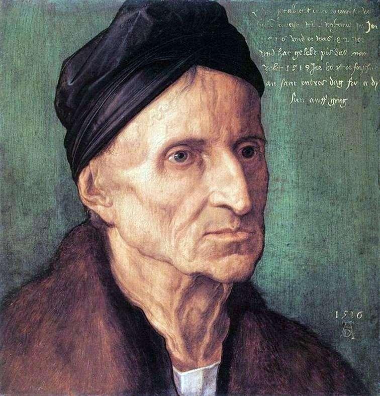 Portret Michaela Wolgemuta   Albrechta Durera