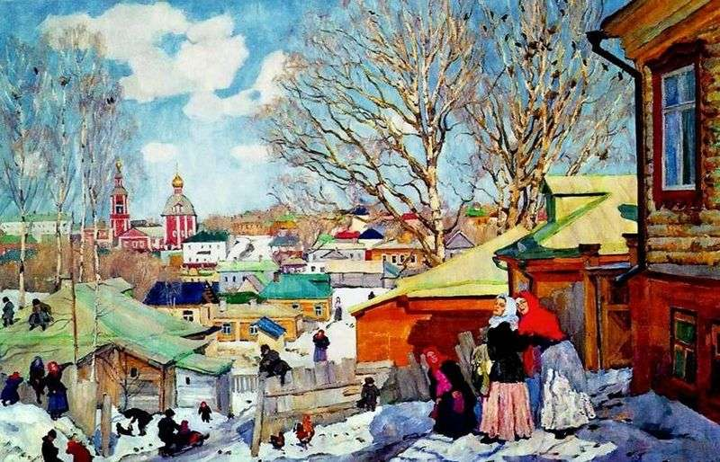 Wiosenny słoneczny dzień   Konstantin Yuon