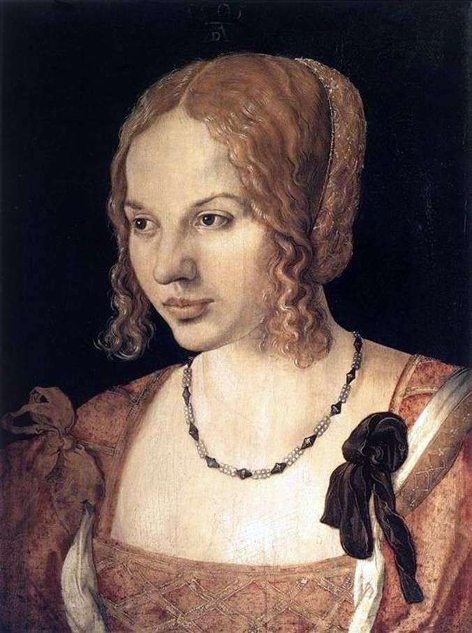 Portret młodej weneckiej kobiety   Albrechta Dürera