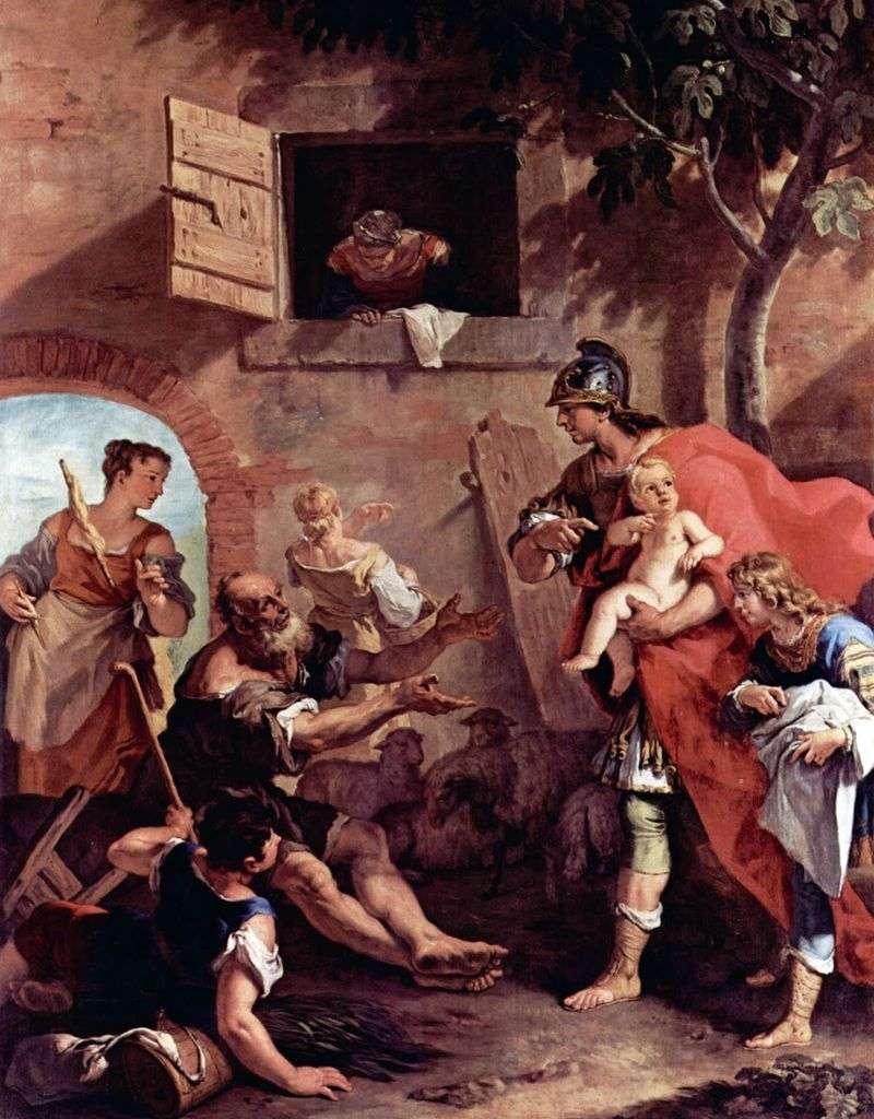 Dzieciństwo króla Cyrusa   Sebastiana Ricciego