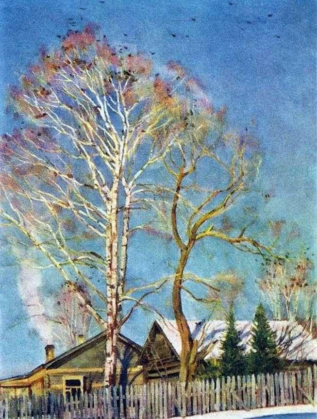 Niebieski rano. Birch Rooks   Konstantin Yuon