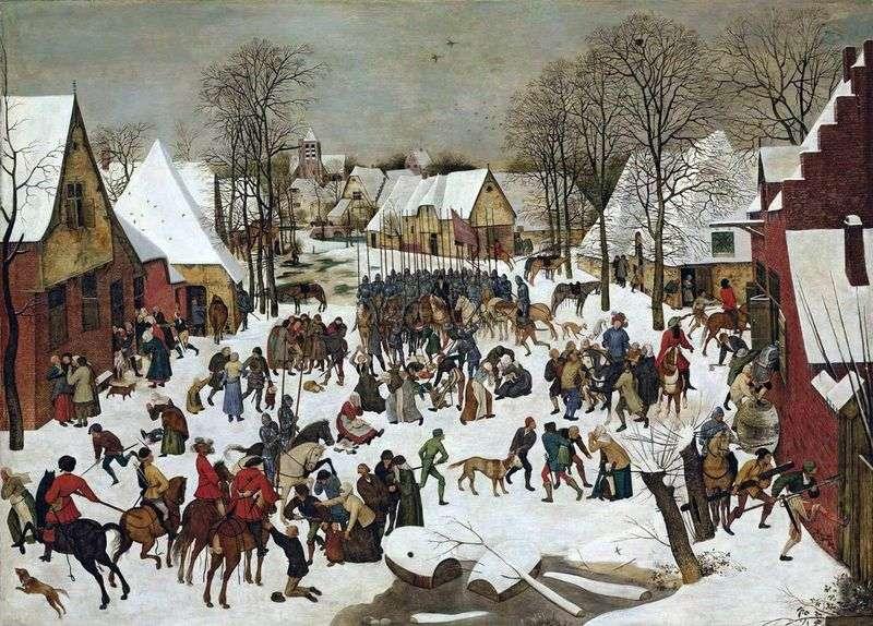 Sapiąc dzieci w Betlejem   Peter Bruegel