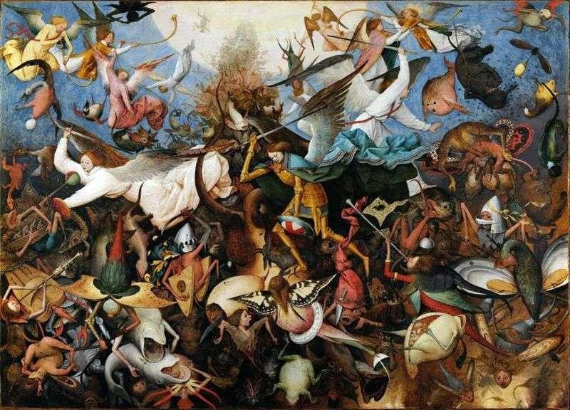 Wypędzenie upadłych aniołów   Peter Bruegel