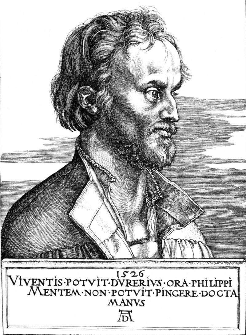 Portret Philipa Melanchthona   Albrechta Dürera