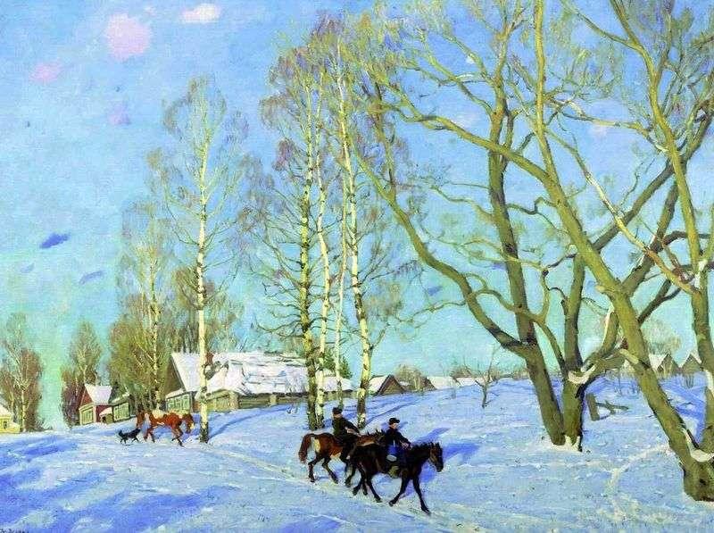 Marzec Słońce   Konstantin Yuon
