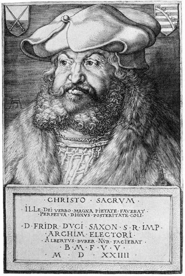 Portret Fredericka Mądrego   Albrechta Dürer