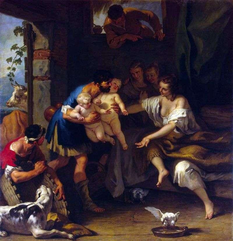 Dzieciństwo Romulusa i Remusa   Sebastiano Ricciego