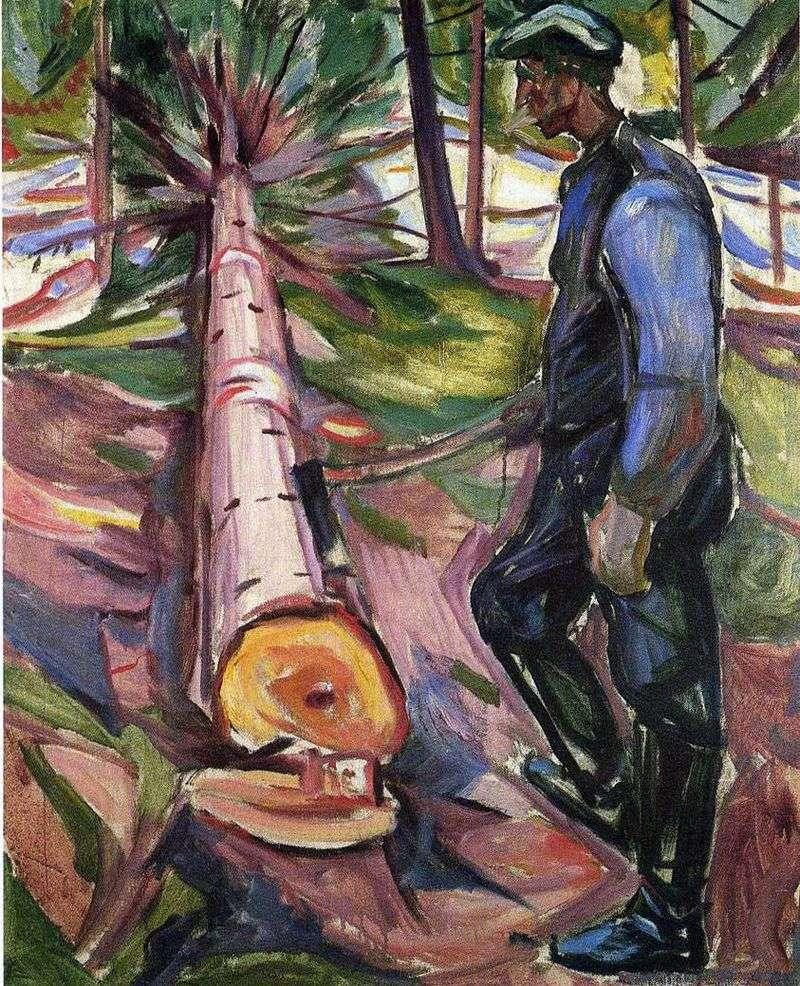 Drwal   Edvard Munch
