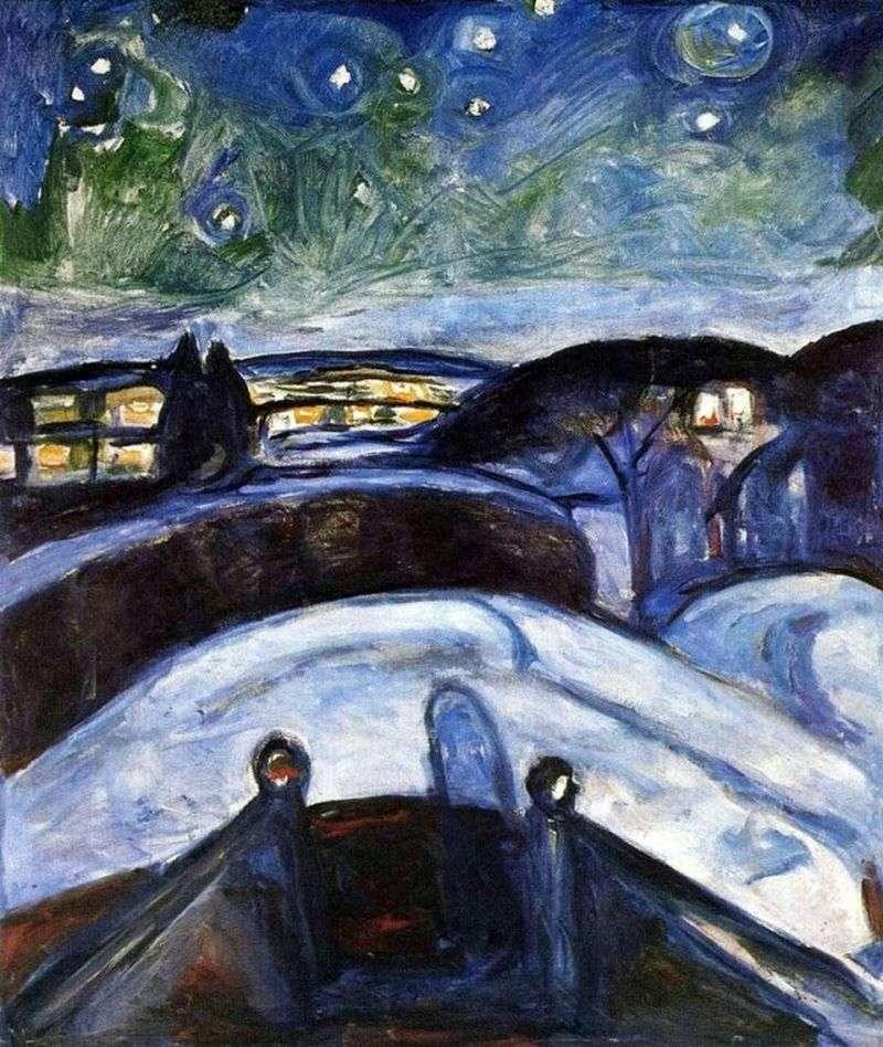 Gwiaździsta noc   Edvard Munch