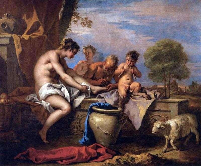 Nimfa i satyra   Sebastiano Ricci